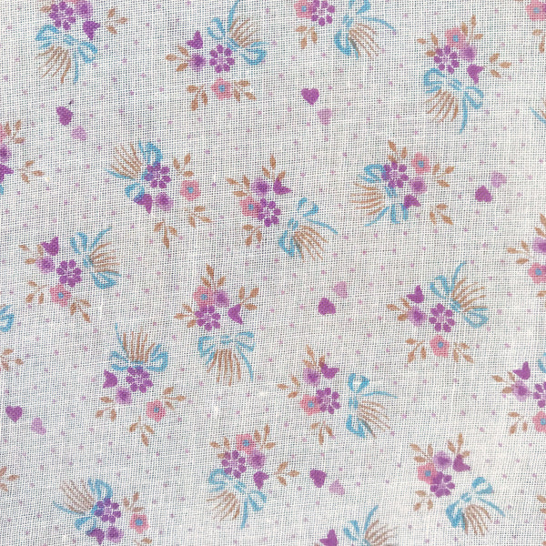 Vintage Semi-Sheer Floral Fabric [2.5+ Yds]