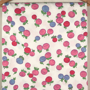 Vintage Floral Seer Sucker Fabric [1.75+Yds]