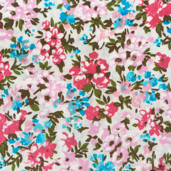 Floral Cotton Blend Fabric [2.5 Yds]