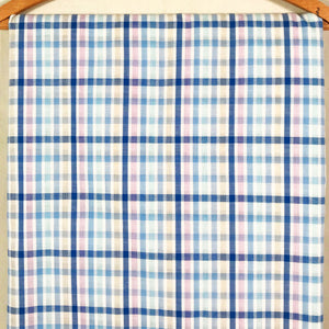 Vintage Plaid Seersuker Fabric