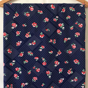 Cotton Rose Vintage Fabric [2.25+Yds]