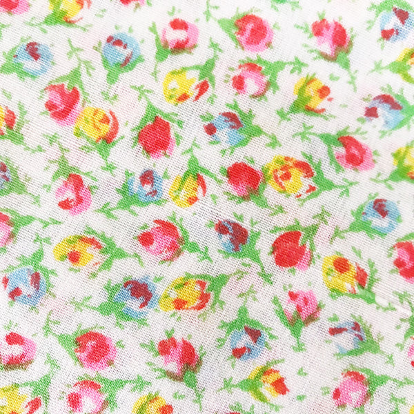 Small Print Rosebud Vintage Fabric [1.5+Yds]