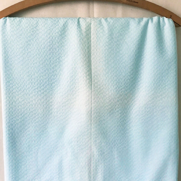 Light Blue Seersucker/Plisse Vintage Fabric [5.5+Yds Discolored]