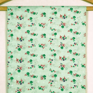 Mint Green Floral Vintage Fabric [1 Yd]