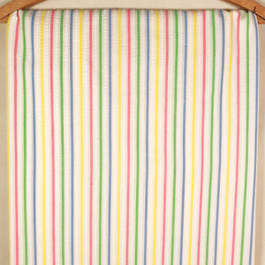 Striped Seersucker Plisse Vintage Fabric [1.75+Yds]