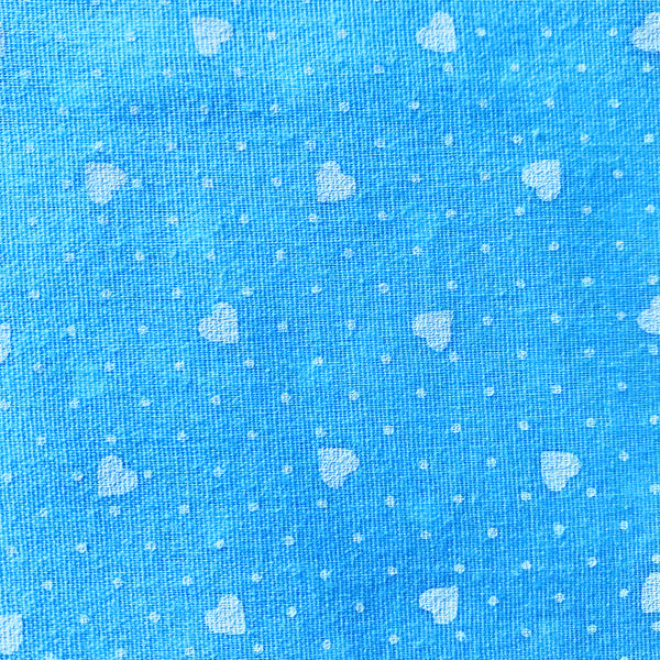 Printed Hearts Fabric [2+Yards]