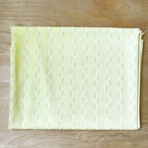 Yellow Floral Striped Flocked Fabric Remnant