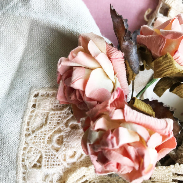 Light Rose Theme | Vintage Textile Supply Box