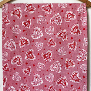 Hearts Cotton Fabric [1.5+Yds]
