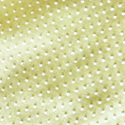 Flocked Dot Light Yellow Vintage Fabric Remnant [2+Yds]