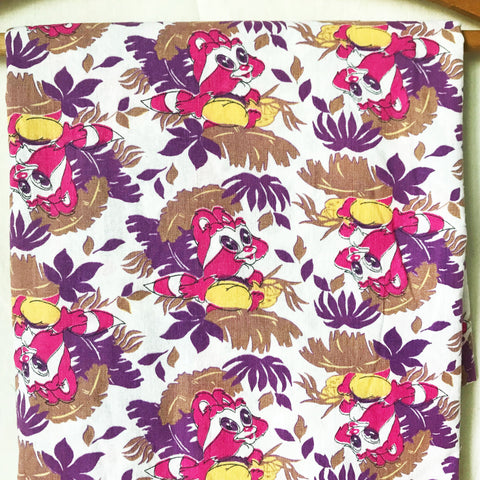 Retro Racoon Vintage Fabric Extra Wide [2+Yds]