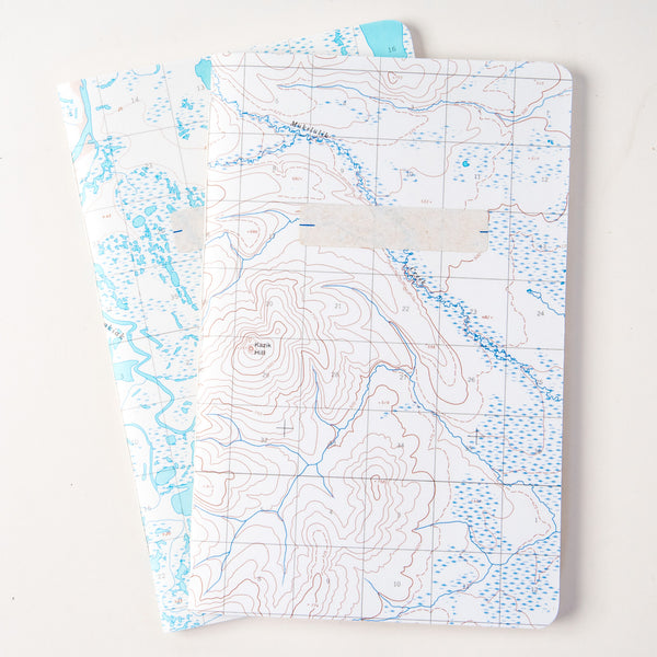 Vintage Map Travel Notebook - water or land