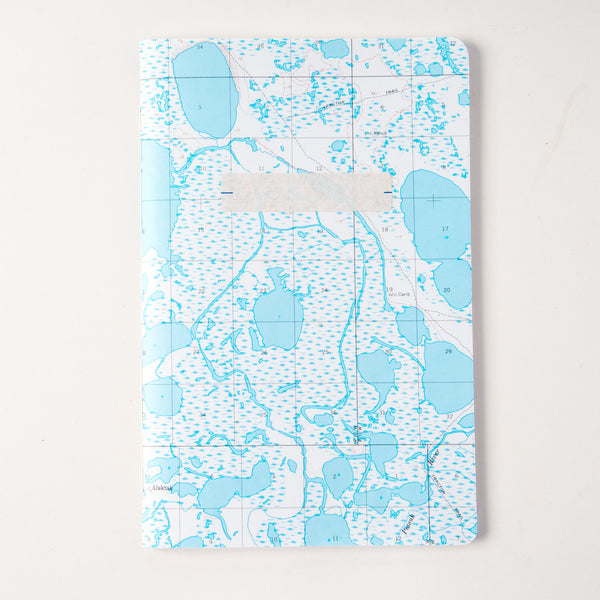 Vintage Map Travel Notebook - water