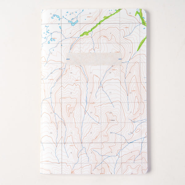 Vintage Map Travel Notebook - land