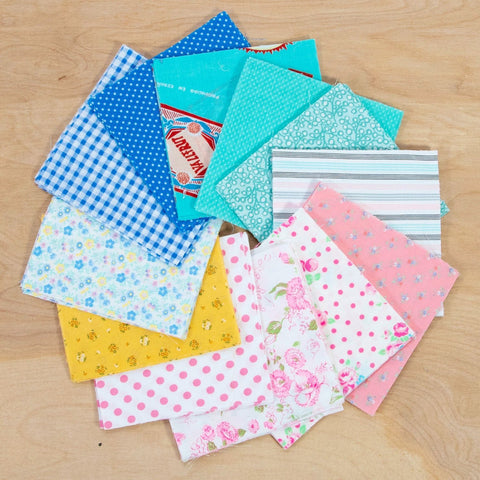 Charm Pack Quilting Fabric / Candy Shop Charm Pack / 96 Squares of Vintage & Reclaimed Fabric