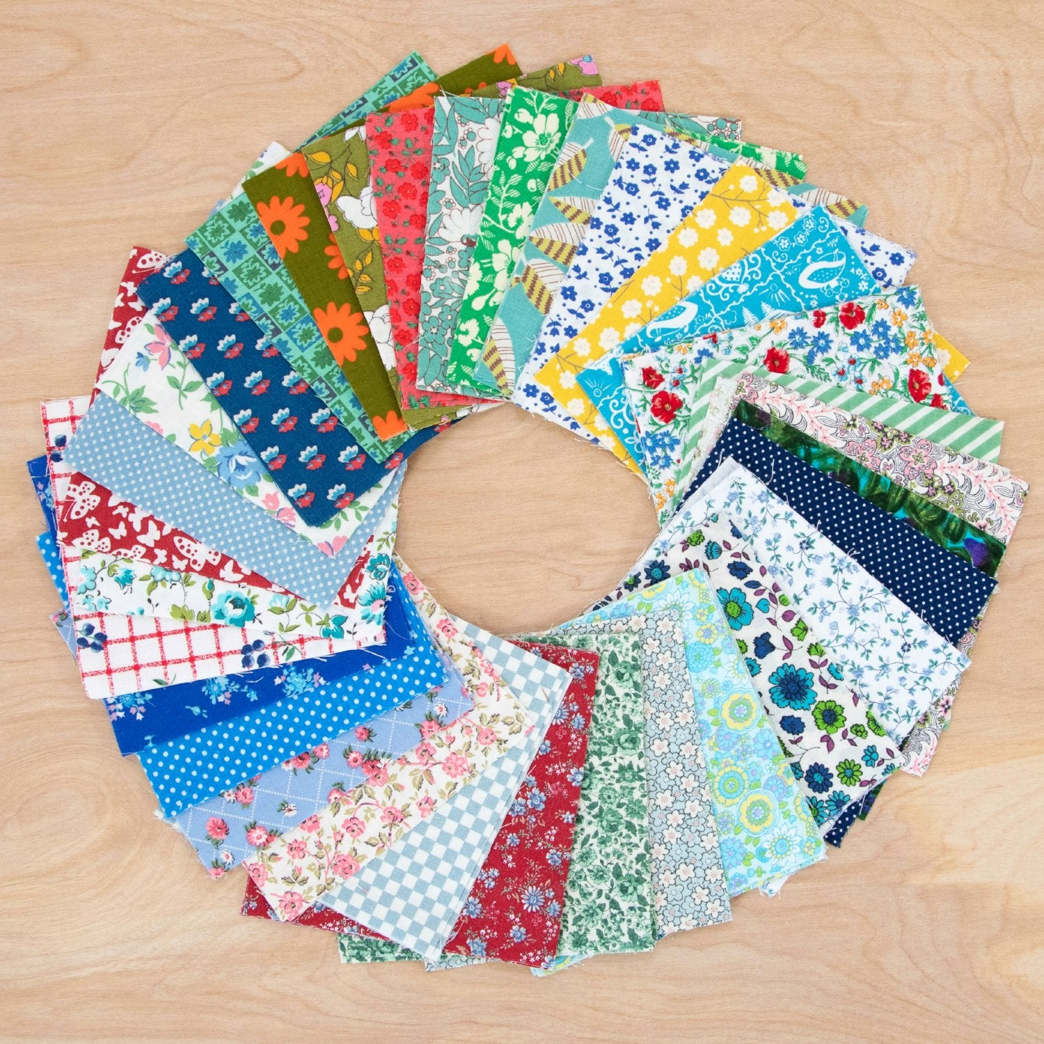 Charm Pack Quilting Fabric / All Vintage Charm Pack / 96 Squares of Vintage Fabric