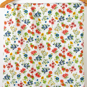 Vintage Fabric Cotton Garden Floral