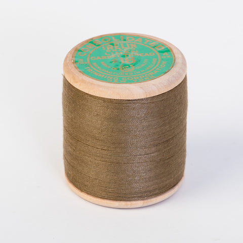 Irish Linen Carpet Thread Large Brown Spool