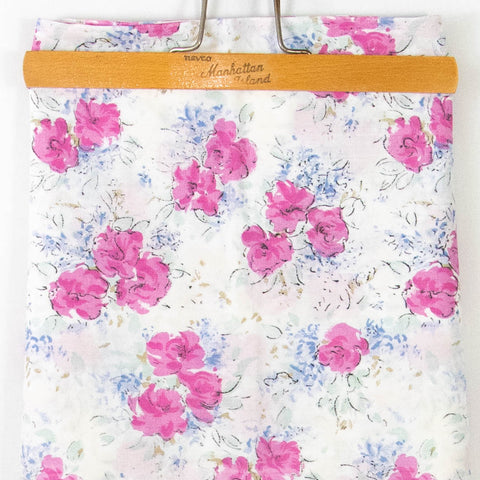 Vintage Floral Cotton Fabric