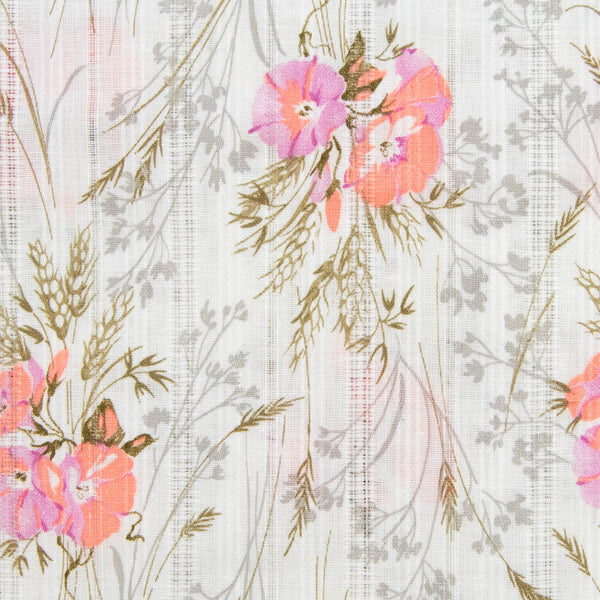 Vintage Fabric Floral Semi Sheer / 2 Yards
