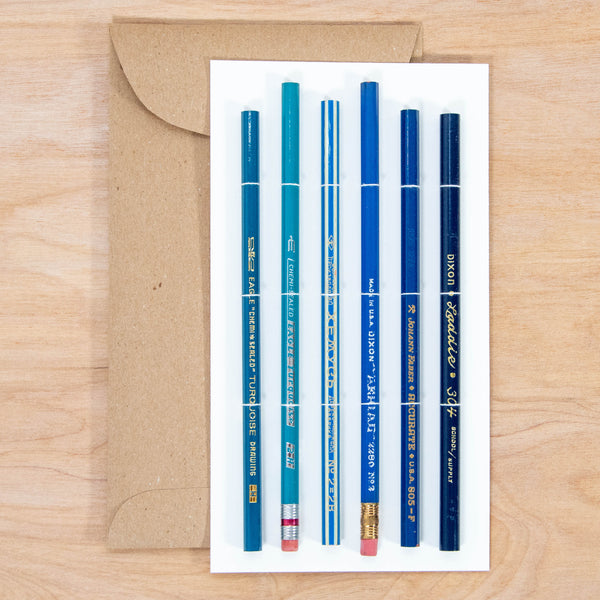 Vintage Pencil Set / Collectable Vintage Pencils All Graphite with Blue Theme