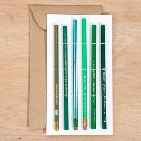 Vintage Pencil Set / Green Lacquer