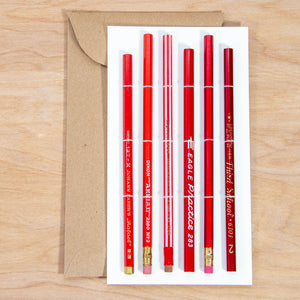 Vintage Pencil Set / Red Lacquer