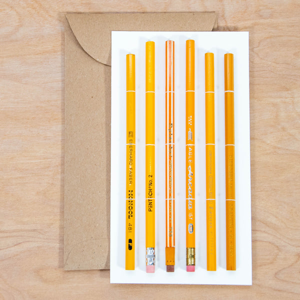 Vintage Pencil Set / Collectable Vintage Pencils All Graphite with Yellow Theme