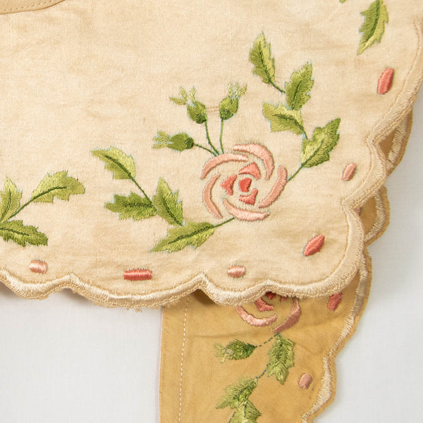 Antique Collar with Embroidered Silk