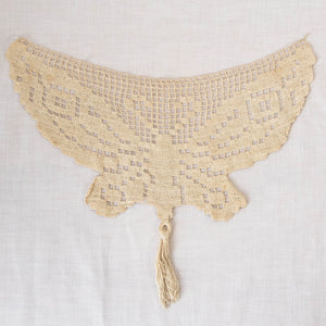 Antique Crochet Butterfly with Tassel