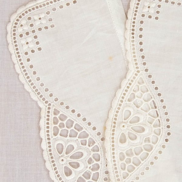 Antique Edwardian Linen Cuffs