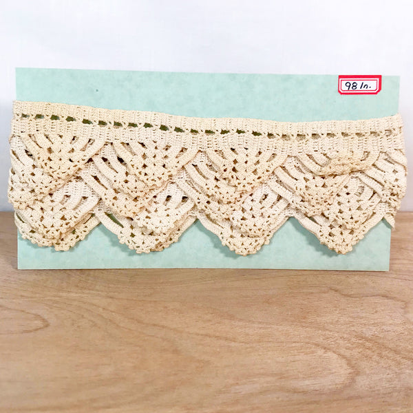 Vintage Crocheted Lace / 2+ Yards