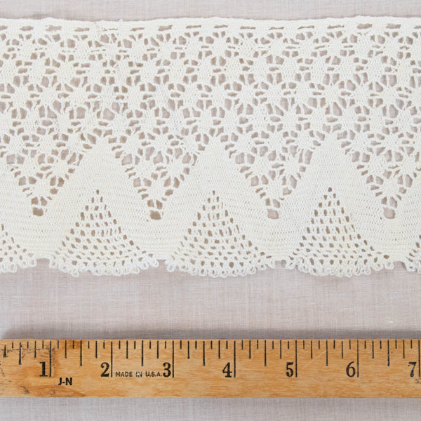 Vintage Cotton Lace / 4+ Yards