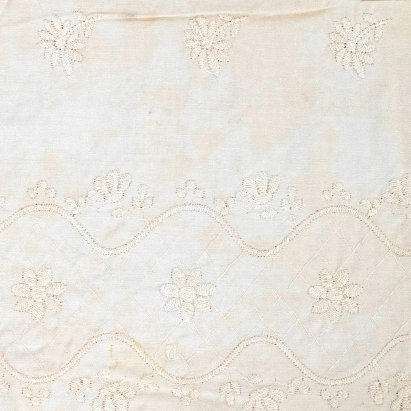 Antique Embroidered Cotton Trim / 3+ Yards