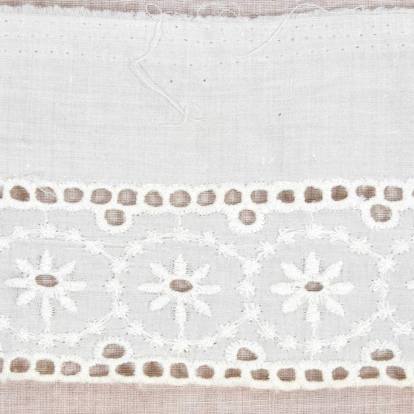 Vintage Cotton Eyelet Trim / 2+ Yards