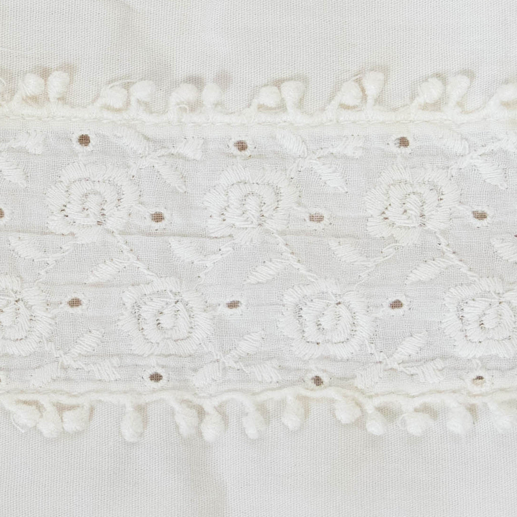 292b2bb58 2 Pieces Vintage Cotton Embroidered Trim / 1+ Yard – Twine & Quill
