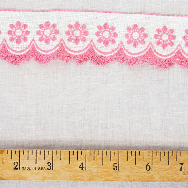 Vintage Pink Fringe Trim / 3+ Yards