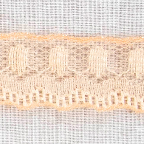 Peach Tulle Mesh Lace / 12 Yards