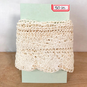 Vintage Cotton Crochet Lace / 1+ Yards
