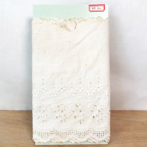 Antique Cotton Eyelet Lace Extra Wide / 1+ Yard