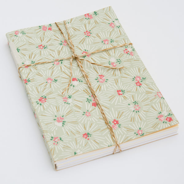 Notebook with Midcentury Wallpaper Cover - Angle