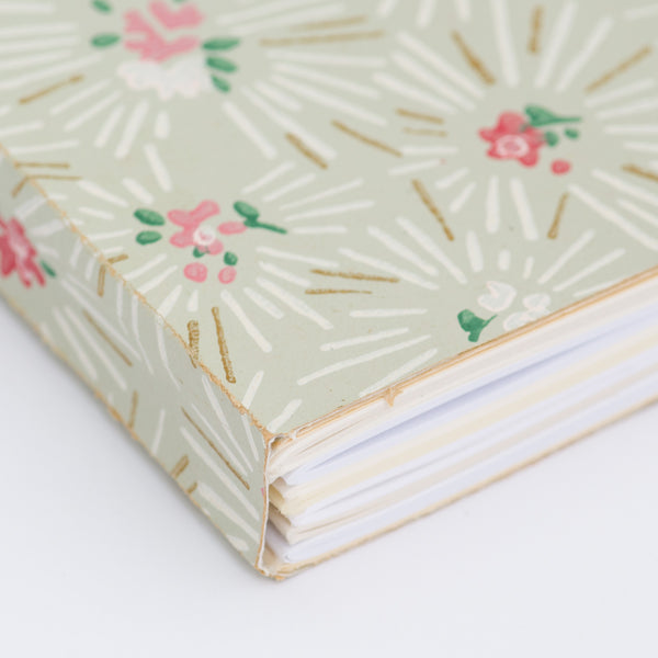 Notebook with Midcentury Wallpaper Cover - Detail