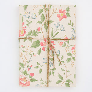 Notebook with Midcentury Wallpaper Cover - Floral Pattern