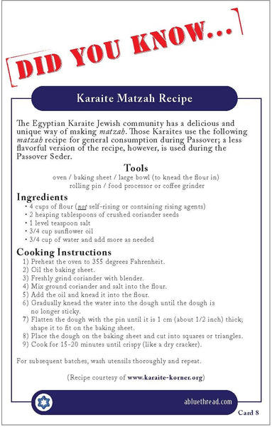Karaite Fact Cards (1-12)
