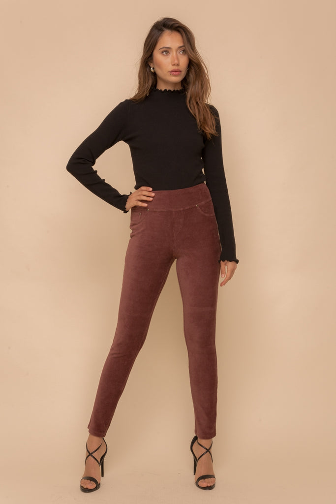 Corduroy Legging - Brown