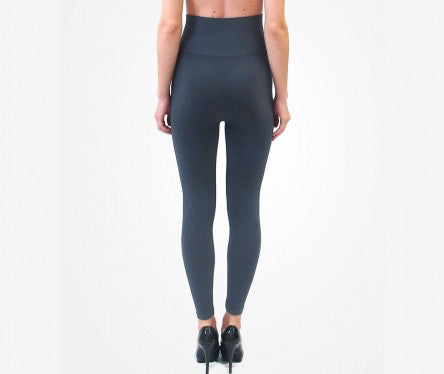 High Waisted Basic Legging Full Length - Charcoal