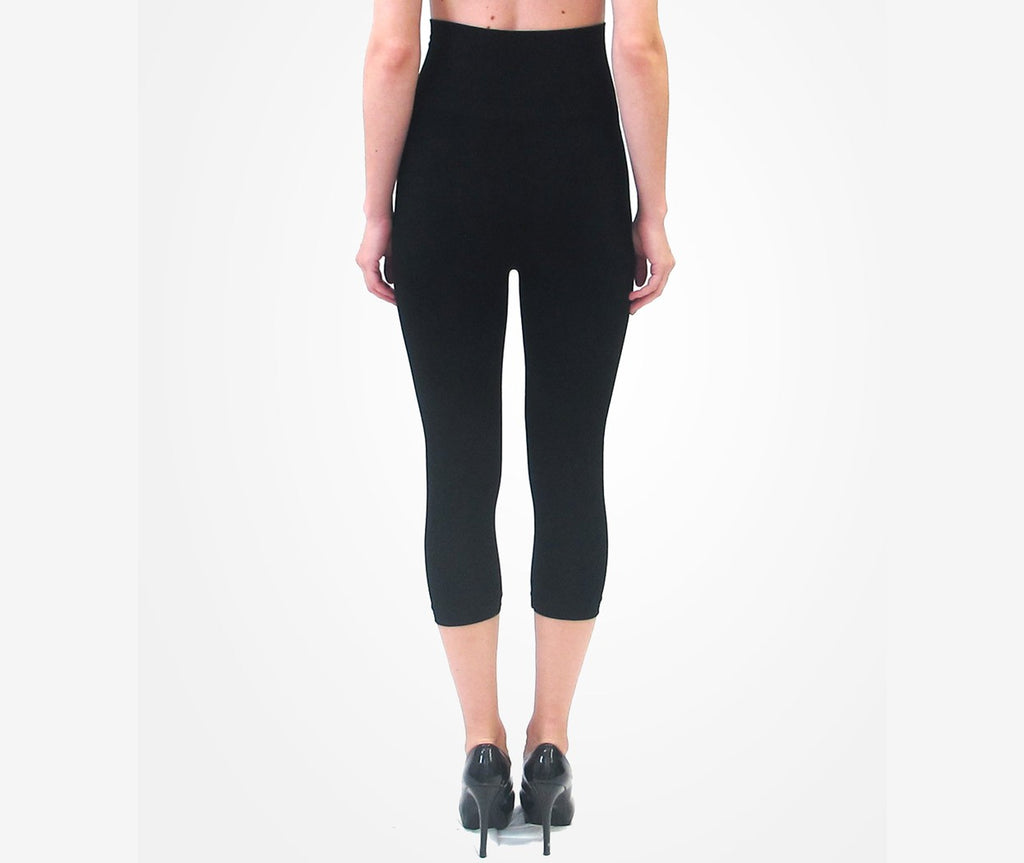 Tummy Tuck Capri Legging- Black