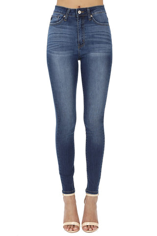KanCan Mid Rise Super Skinny - Dark Wash