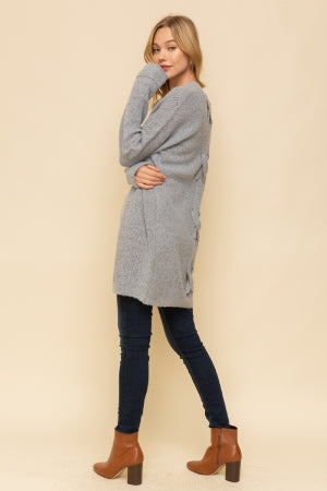I Only Have Eyes For U Cardigan - Rosewood