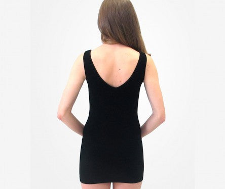 Short Basic Layering Tank- Black